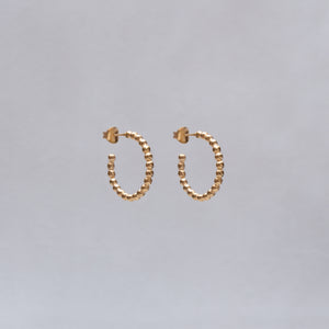 Bobble Hoop Earrings