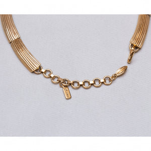 Vintage Gold Twisted Necklace