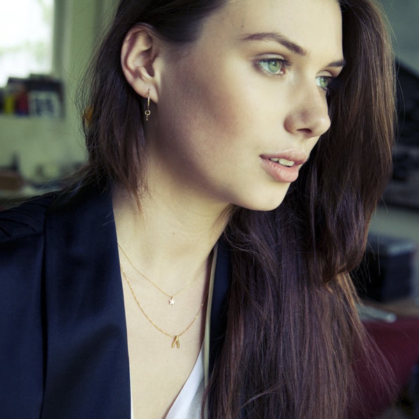 Silver Wishbone Necklace