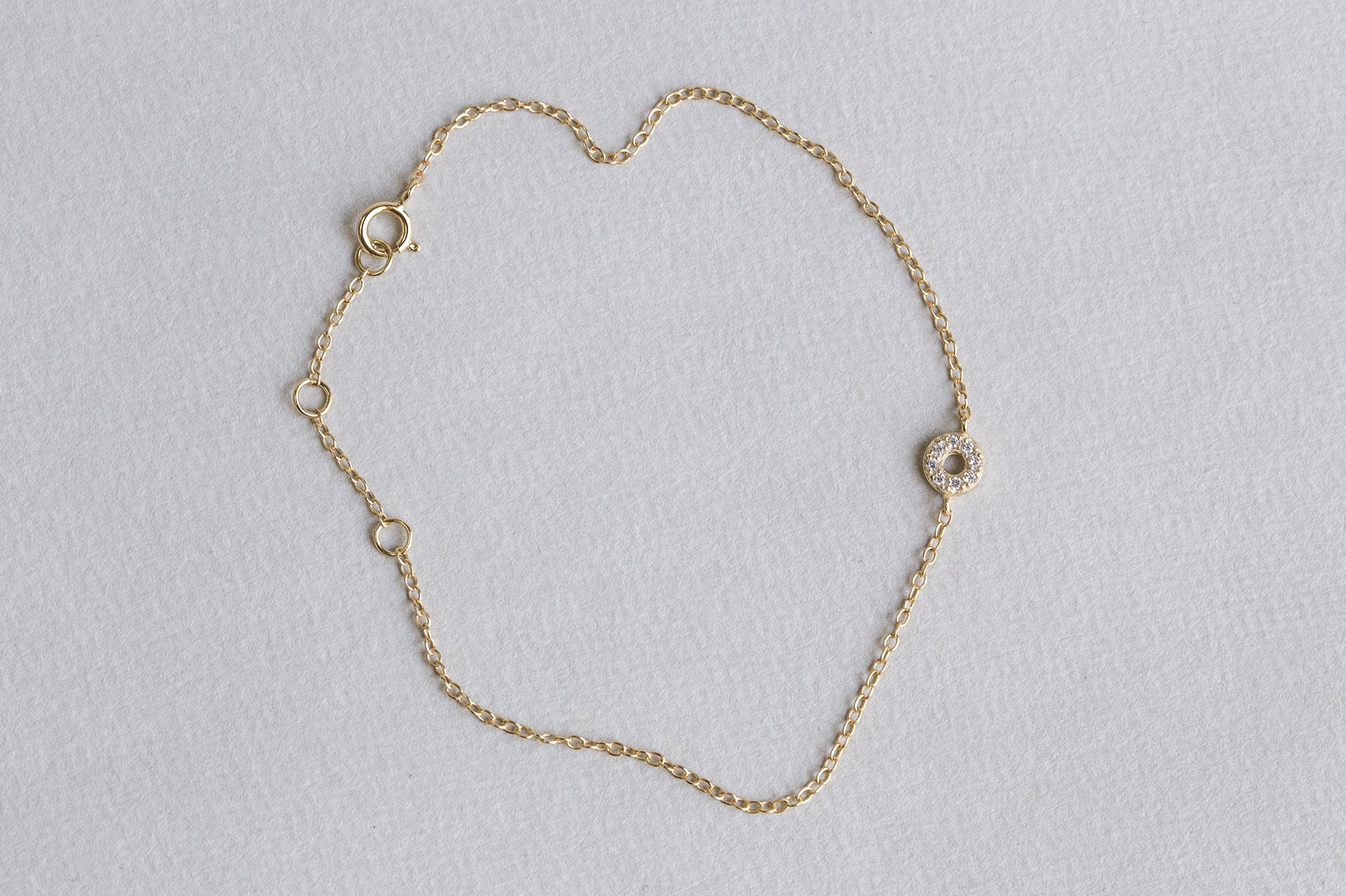 this bracelet is perfect for layering with other delicate bracelets