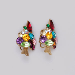 #42 Very jolly Christmas tree earrings!