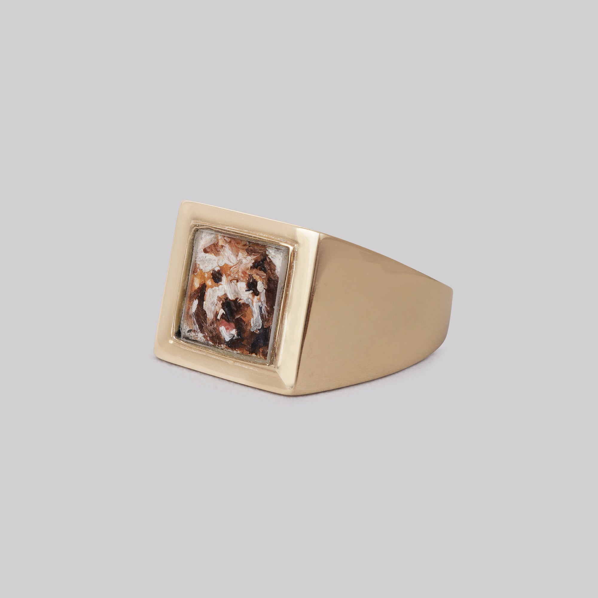 Bespoke 9ct Gold Dog Portrait Ring