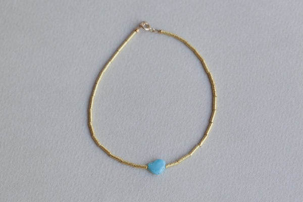 extraordinary matte gold bead bracelet polished turquoise bead