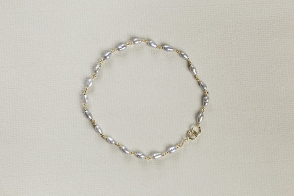 lovely freshwater grey pearl bracelet by Molo