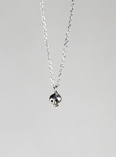 Micro Skull Necklace in Silver by Momocreatura