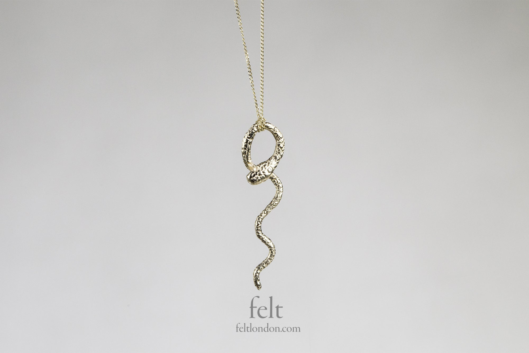 Wavy Snake Necklace by Momocreatura