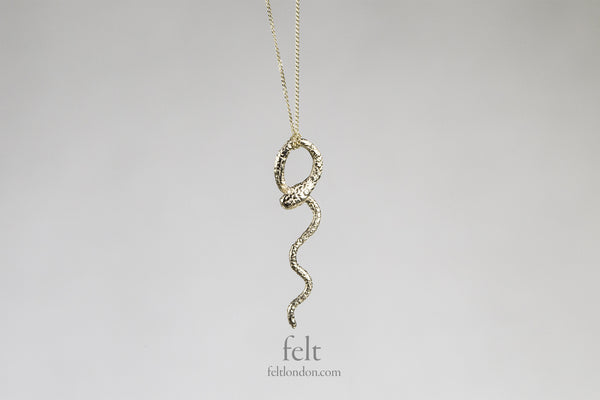 delicate wavy snake necklace, one of the most popular necklaces at felt!