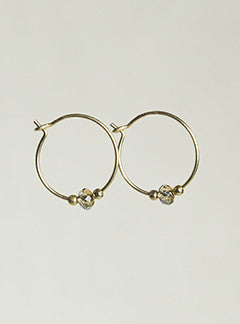 MyHartBeading Brown Swarovski Bead Hoop Earrings