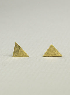 Dory Hsu Triangle Matte Stud Earrings