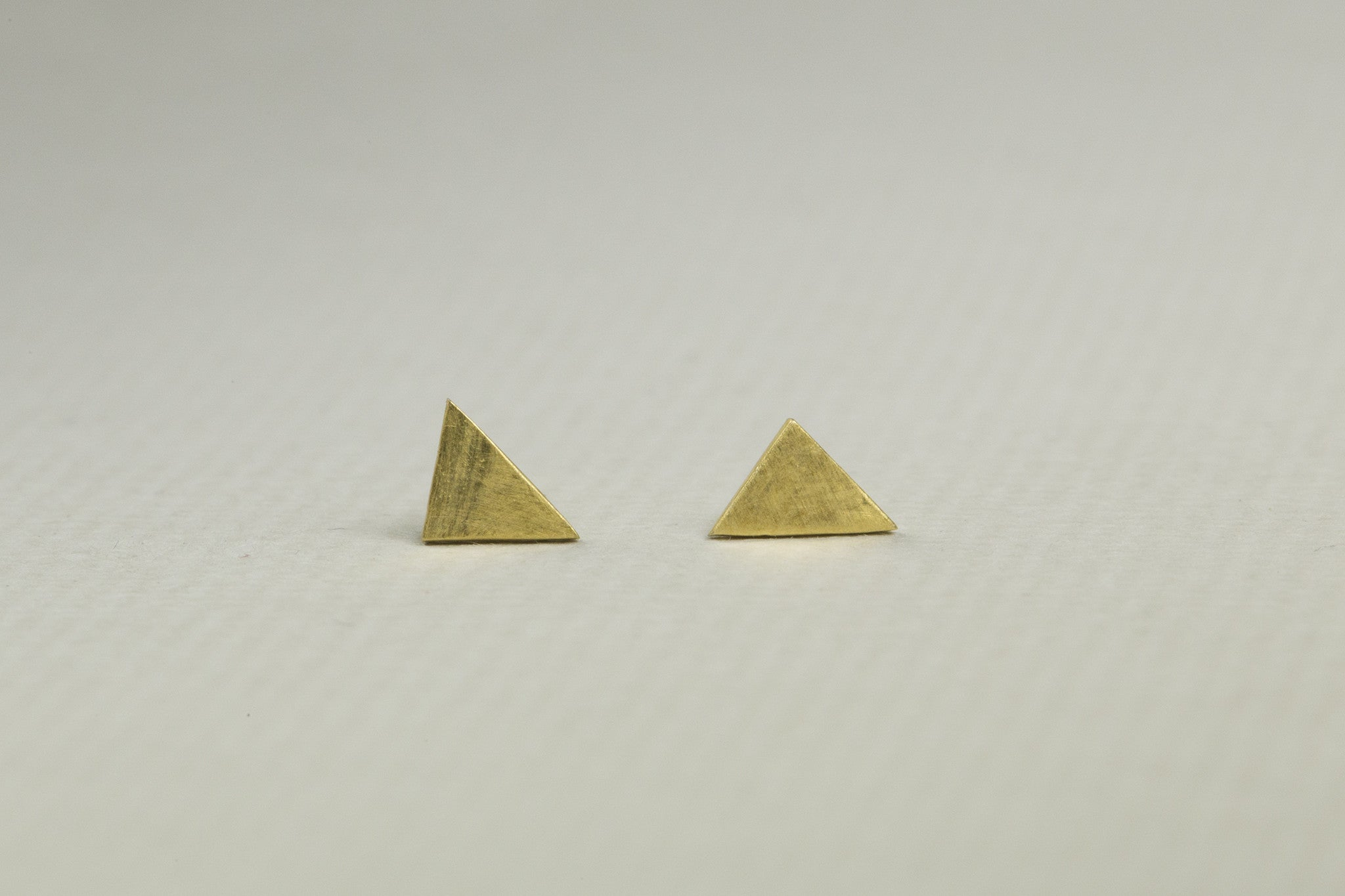 Triangle Matte Stud Earrings