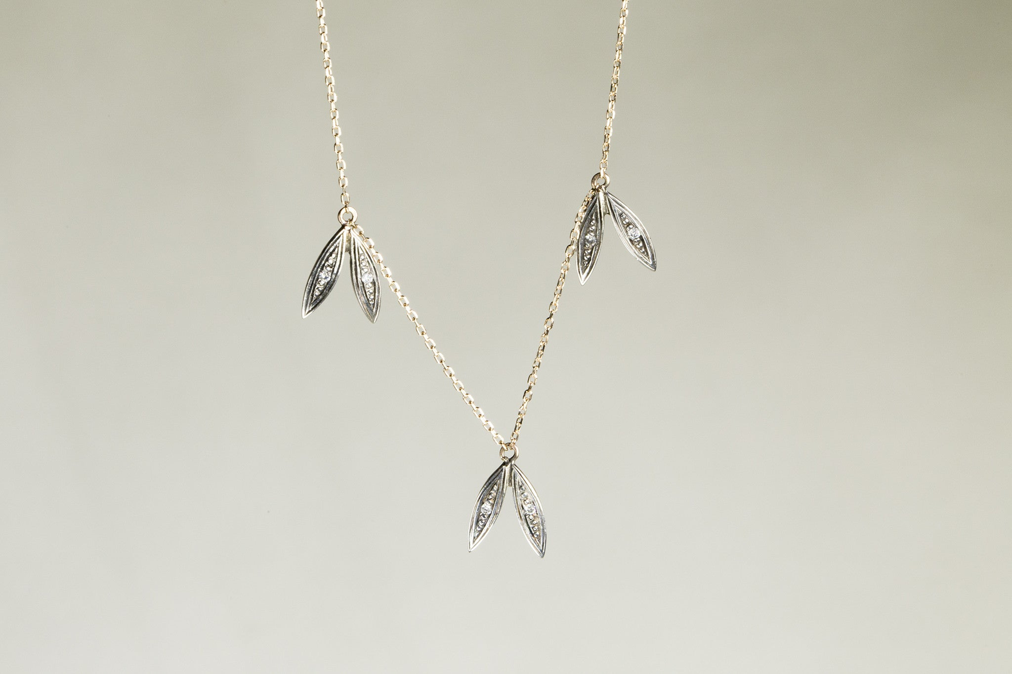 delicate and sophisticated lotus leaf necklace