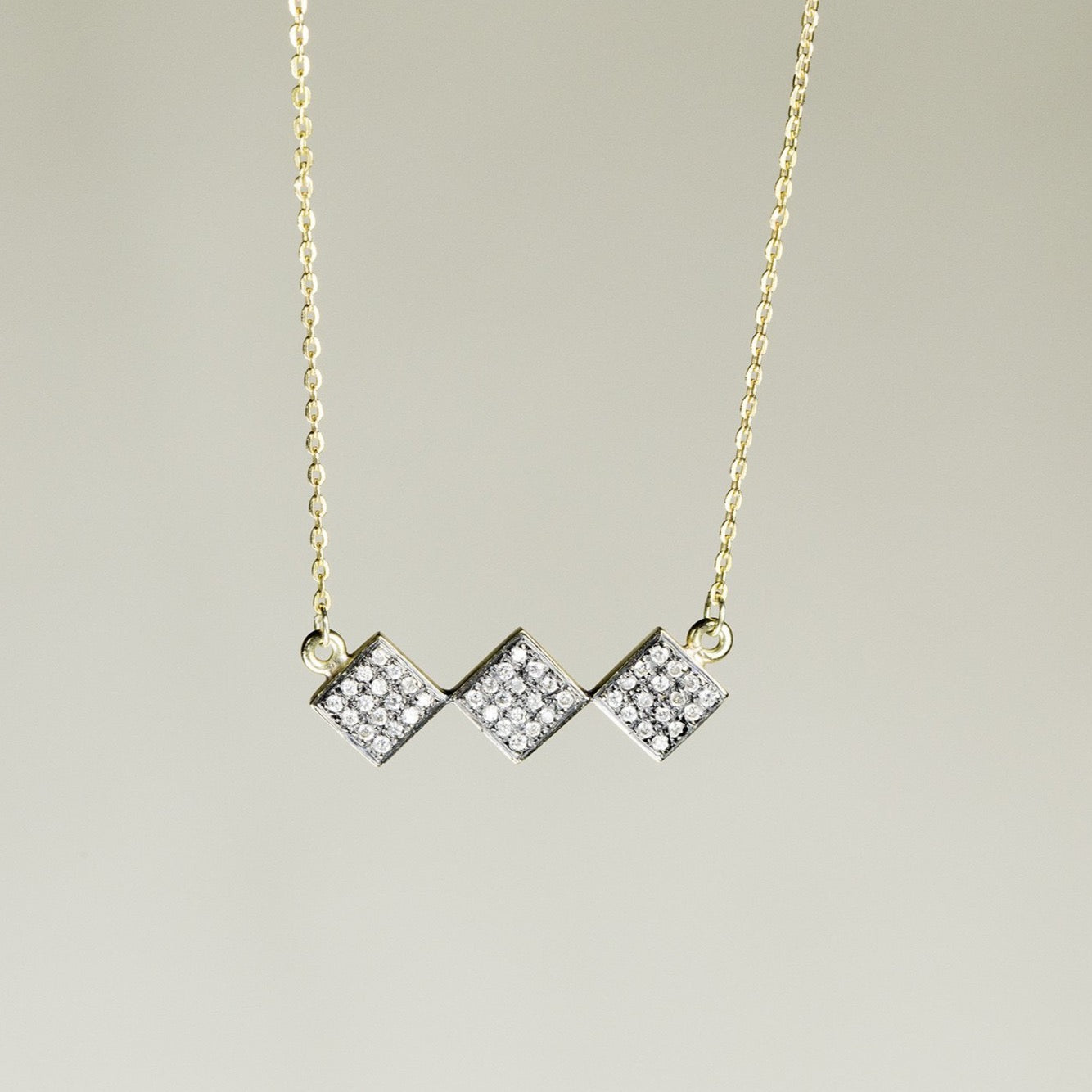 Oona Diamond Rhombs Necklace