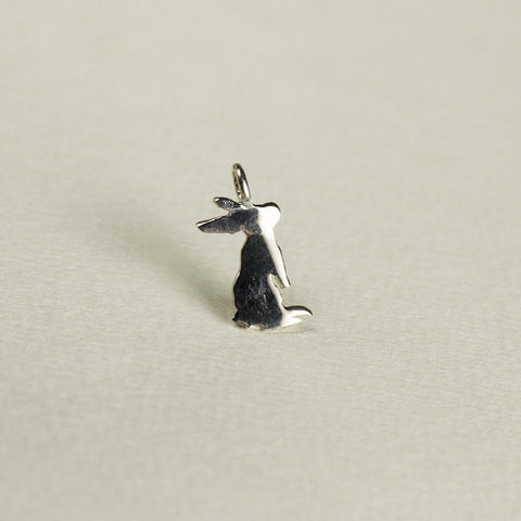 felt Silver Rabbit Outline Charm