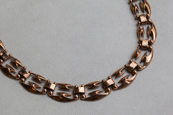 detail of the Renoir copper necklace