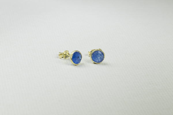 these gold-plated silver studs are also available in red, green and other colours