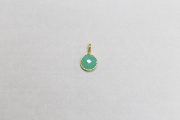 vivid sea green colour of the chalcedony will brighten any charm collection
