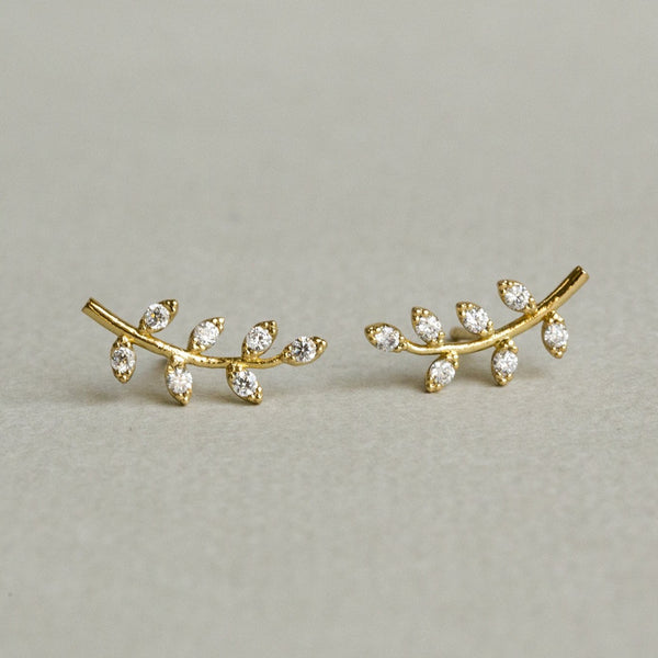 these darling branches are also available in gold plated silver!