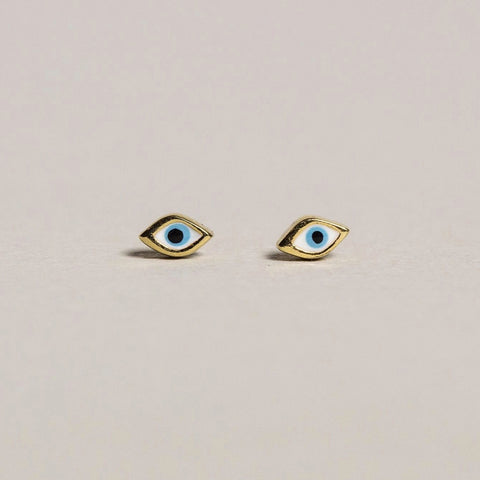 Tai Enamel Eye Stud Earrings