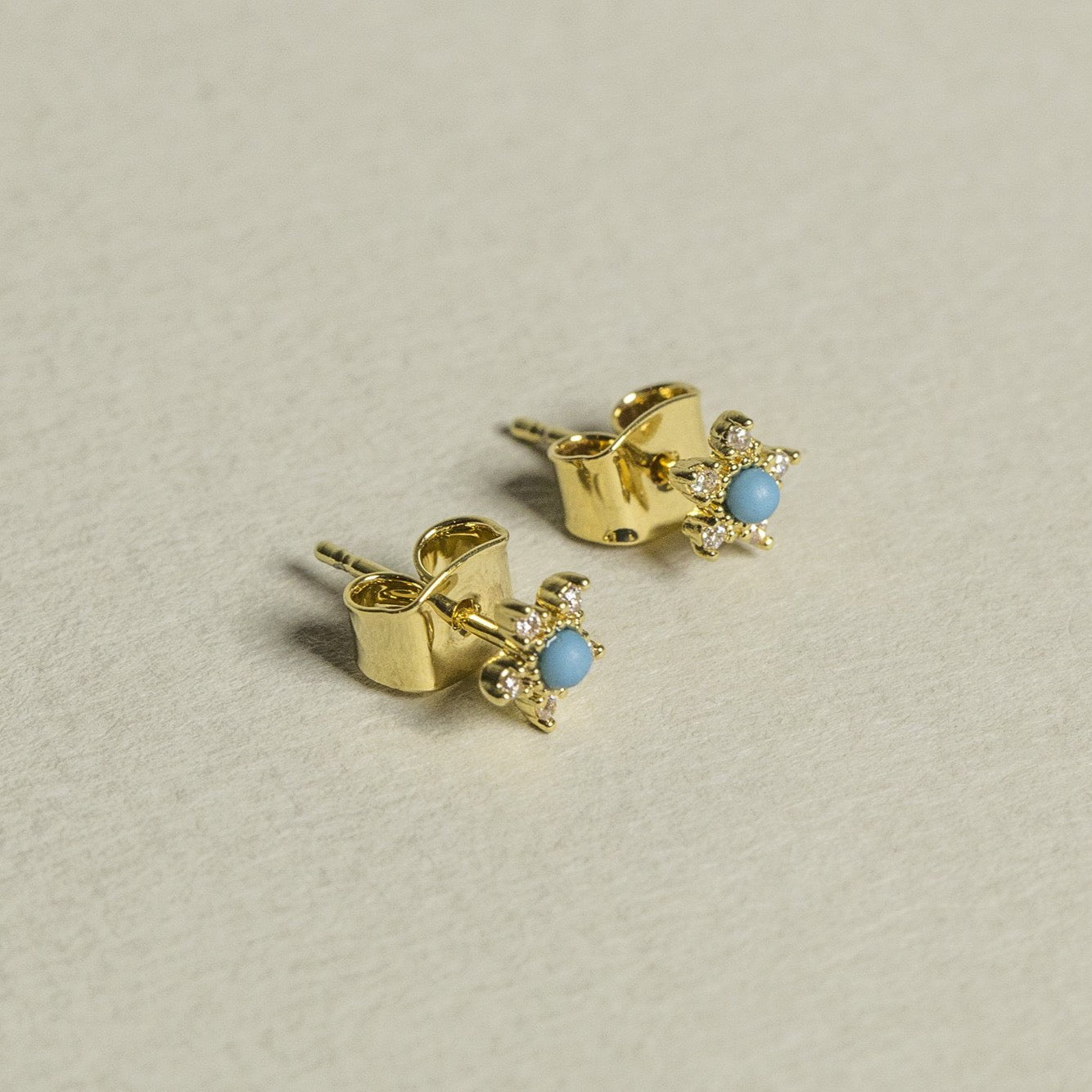 made of gold plated silver, these stud will brighten any ensemble!
