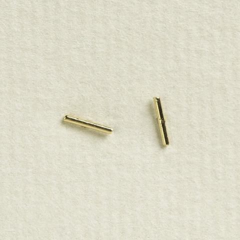 Tai Gold Plated Super Mini Bar Stud Earrings