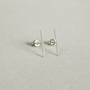 silver double line studs are perfect earrings for those who like understated look