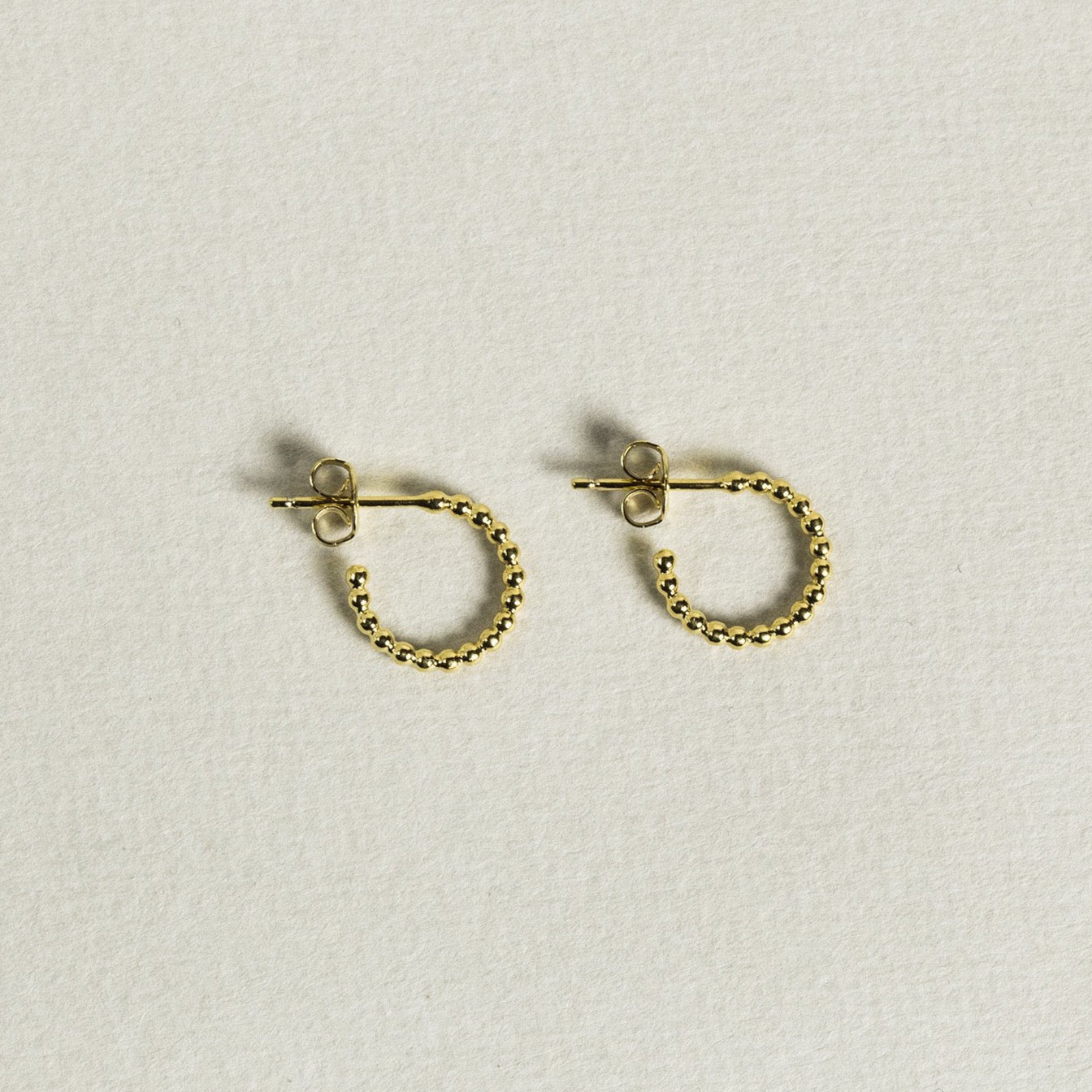adorable tiny beaded hoops - smallest in the whole beaded collection!