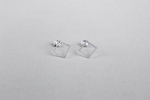 available in silver and gold-plated silver amazing square earrings