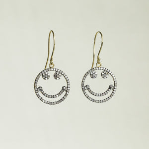 can't stop smiling earrings with real diamonds