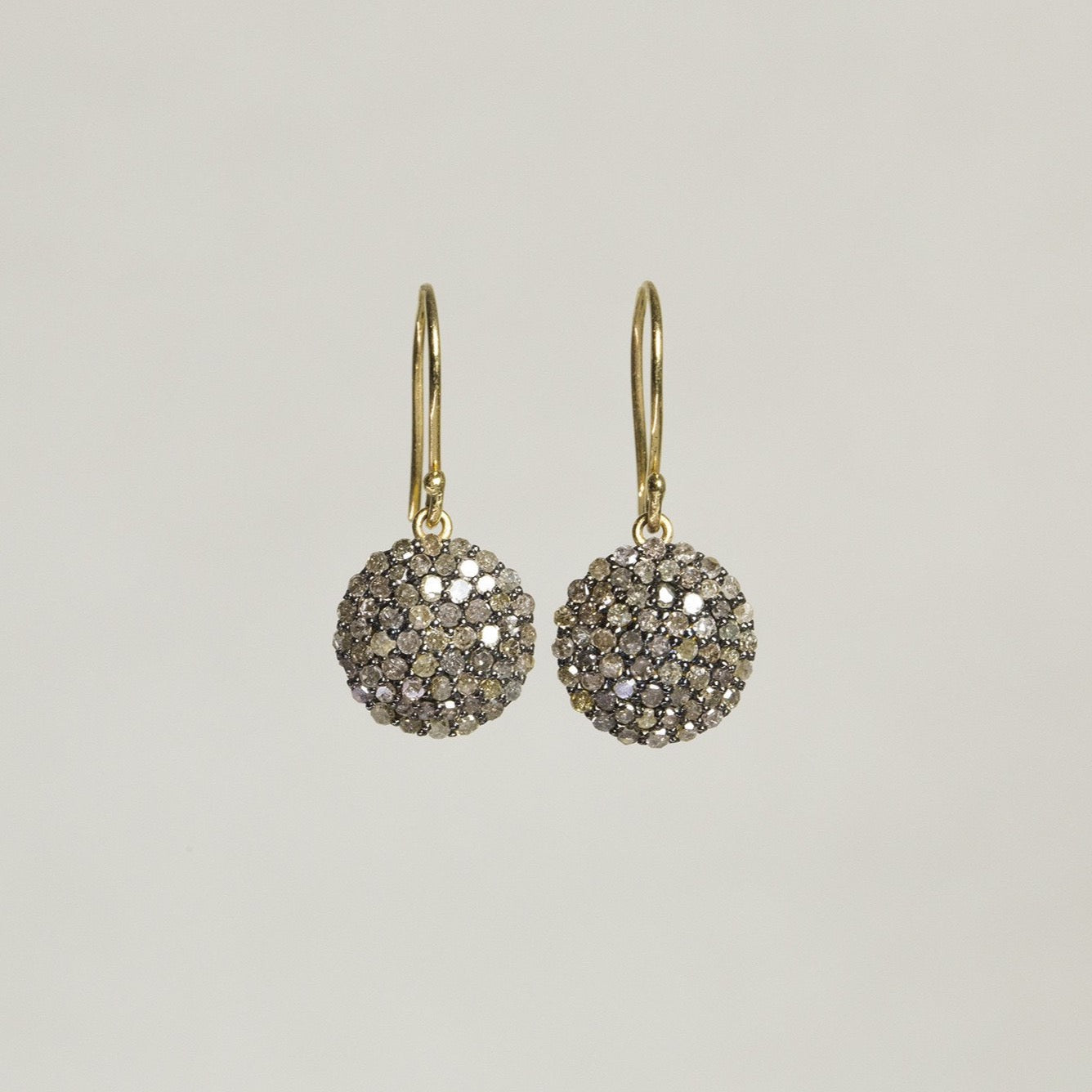 felt Affordable Diamond Range Discs Hook Earrings