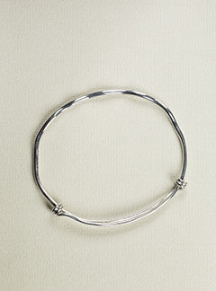felt Silver Resizable Slave Bangle