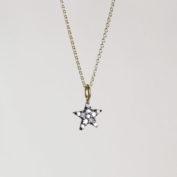 Diamond Little Star Necklace