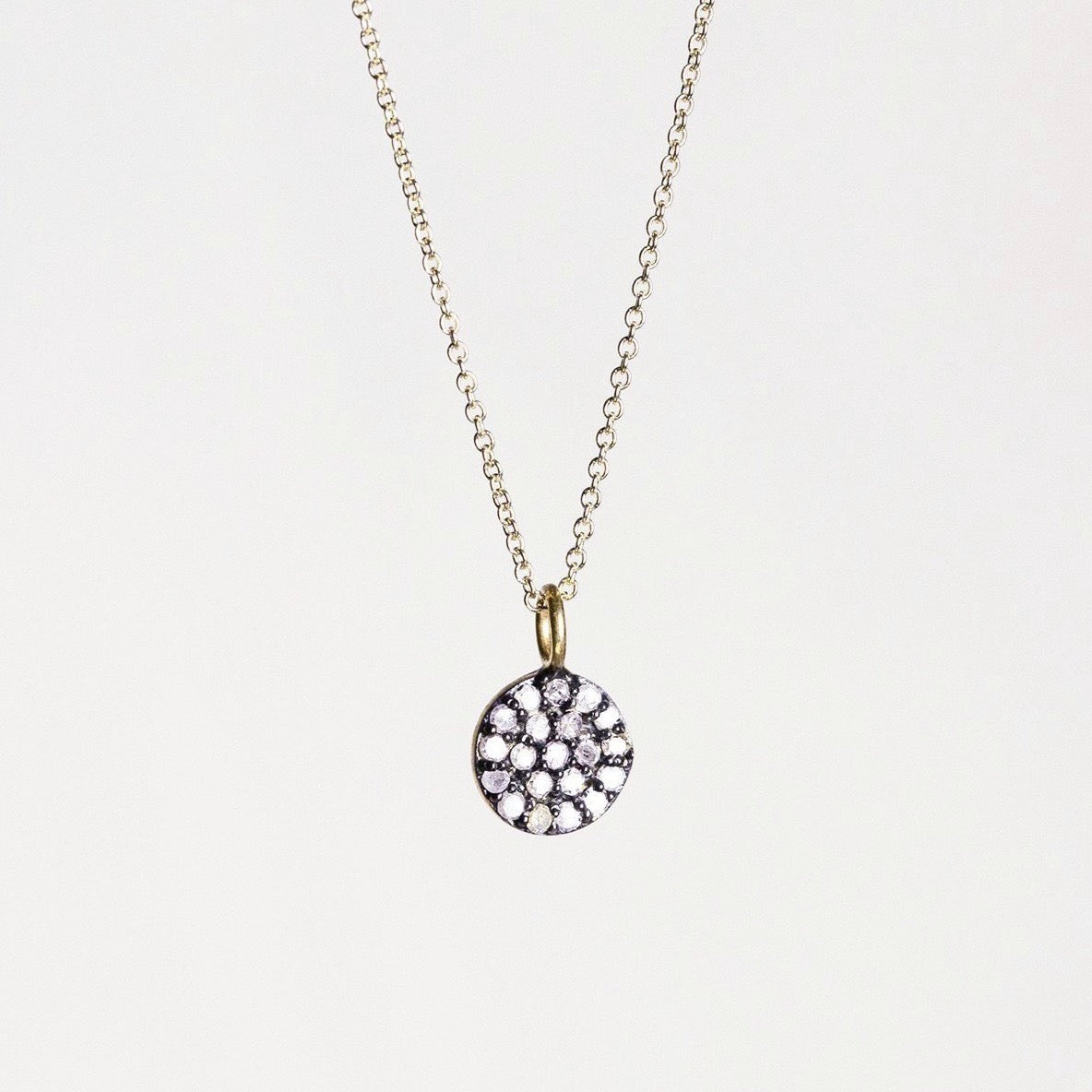 felt Affordable Diamond Range Little Disc Necklace