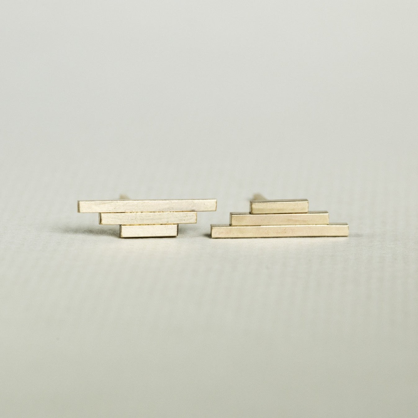 By Boe Triple Bar Stud Earring