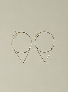 by Philippe gold-filled arrow head hoop earrings