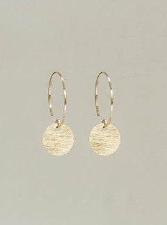 by Boe gold-filled disc charm hoops