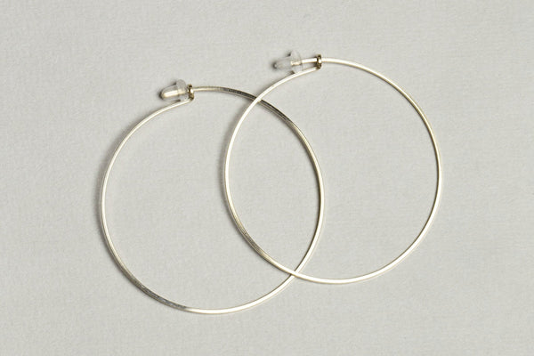 a slightly smaller version of gold filled hoops by boe