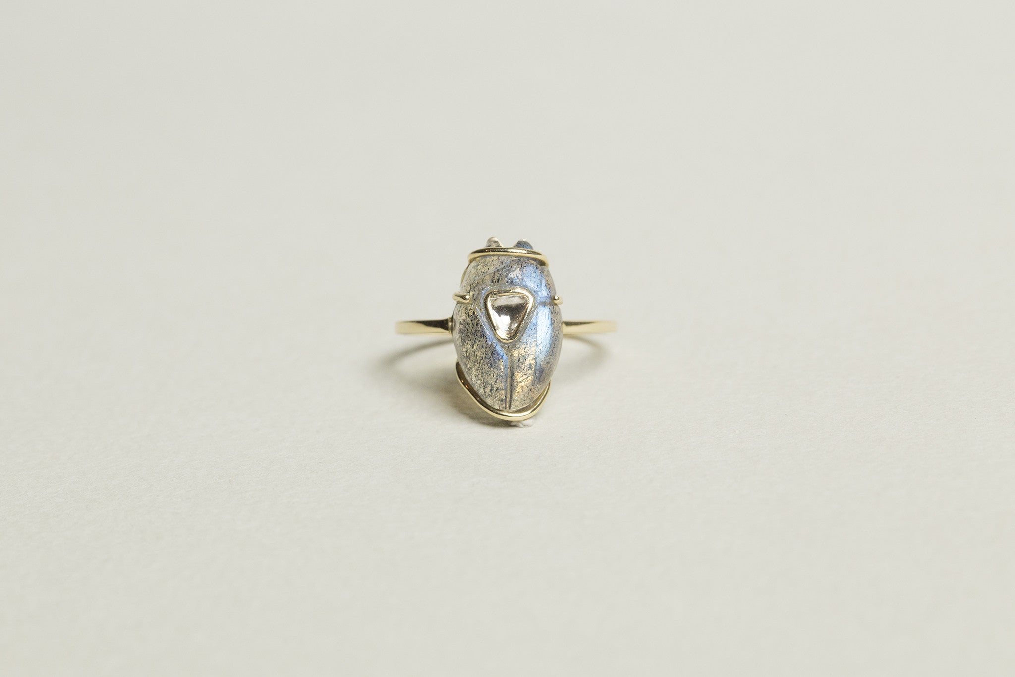 from the same collection - slightly bigger in size - the scarab diamond ring available on feltlondon.com!