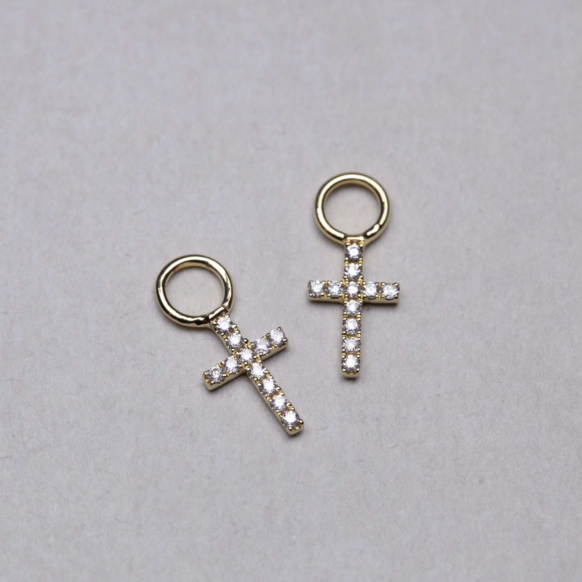 Diamond Cross Earring Charms