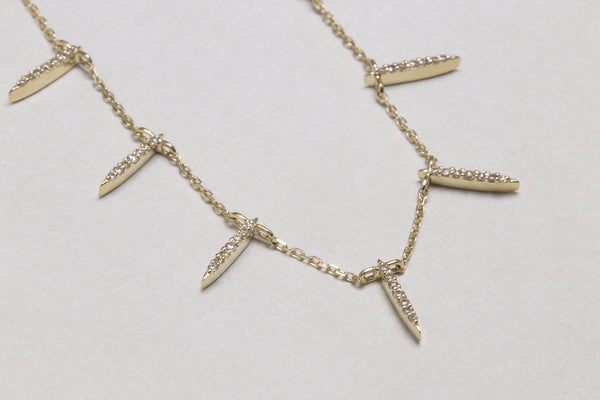 cdfcac5a53253f Celine Daoust's exquisite diamond necklace set in 14ct yellow ...