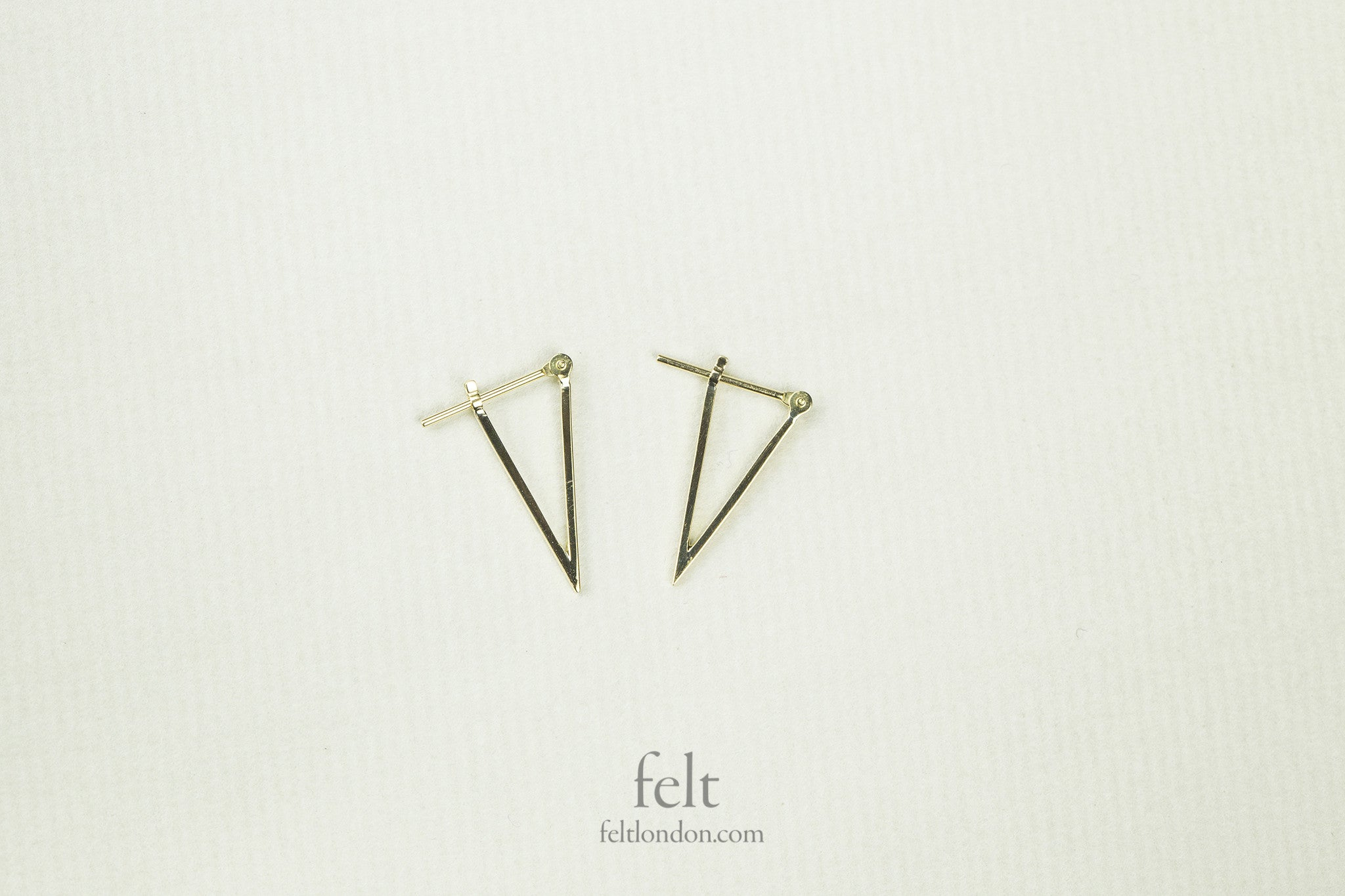 fantastically quirky 'pointy' hoops from e.m. Mehem