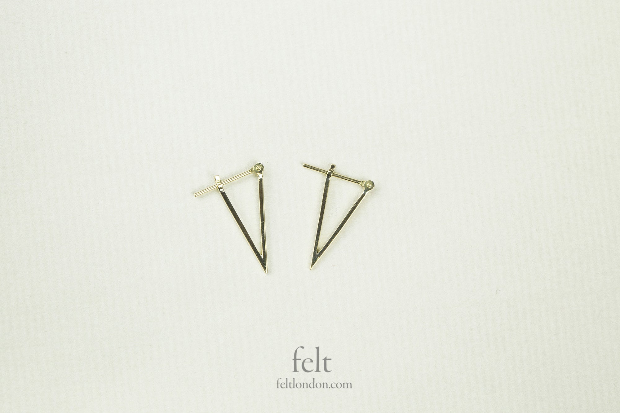e.m. Mehem 18 Carat Gold 'Pointy' Hoops