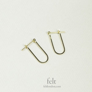 delicate and different 'U' shaped hoops from e.m. Mehem