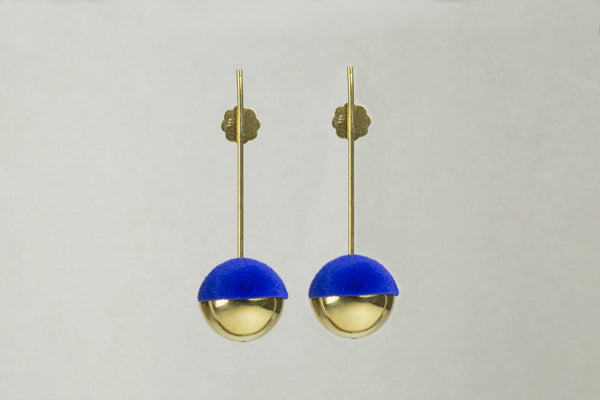Also available... Earrings with Electric Blue Flocking Flocking by Mara Irsara