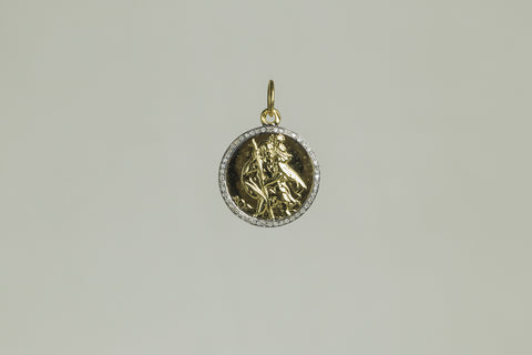 Vintage Diamond Encrusted St. Christopher Pendants