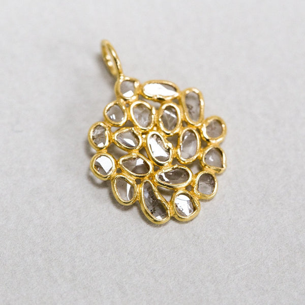 from the same collection - matching diamond slice cluster pendant is also available on feltlondon.com