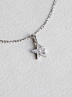 Felt tiny diamond star necklace mozeypictures Image collections