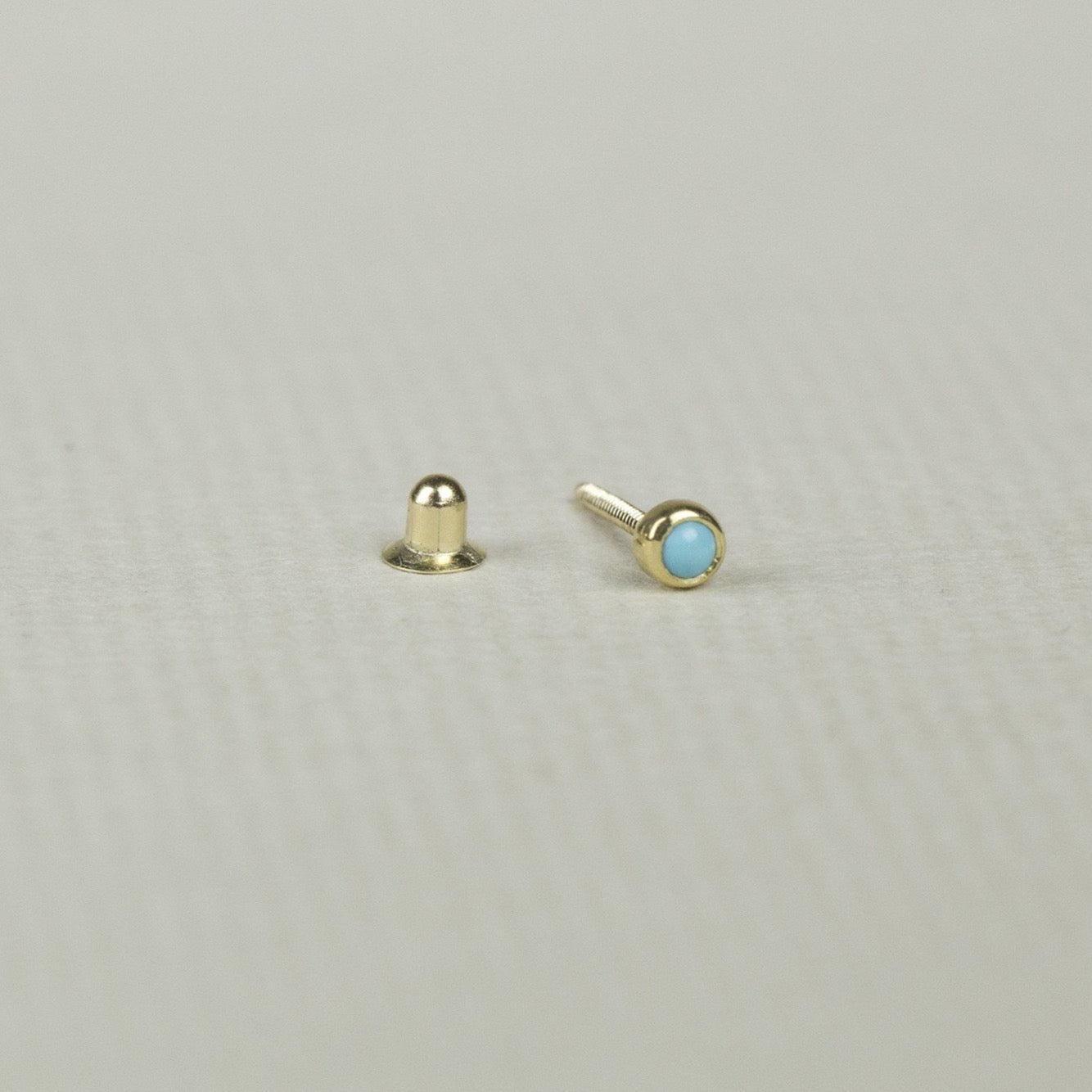 Turquoise Blob Cartilage Screw Back Earring
