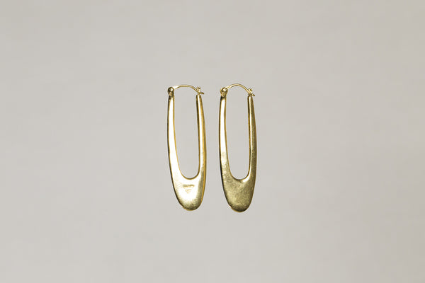 lustrous, hand made, unusual hoops perfect for minimalists