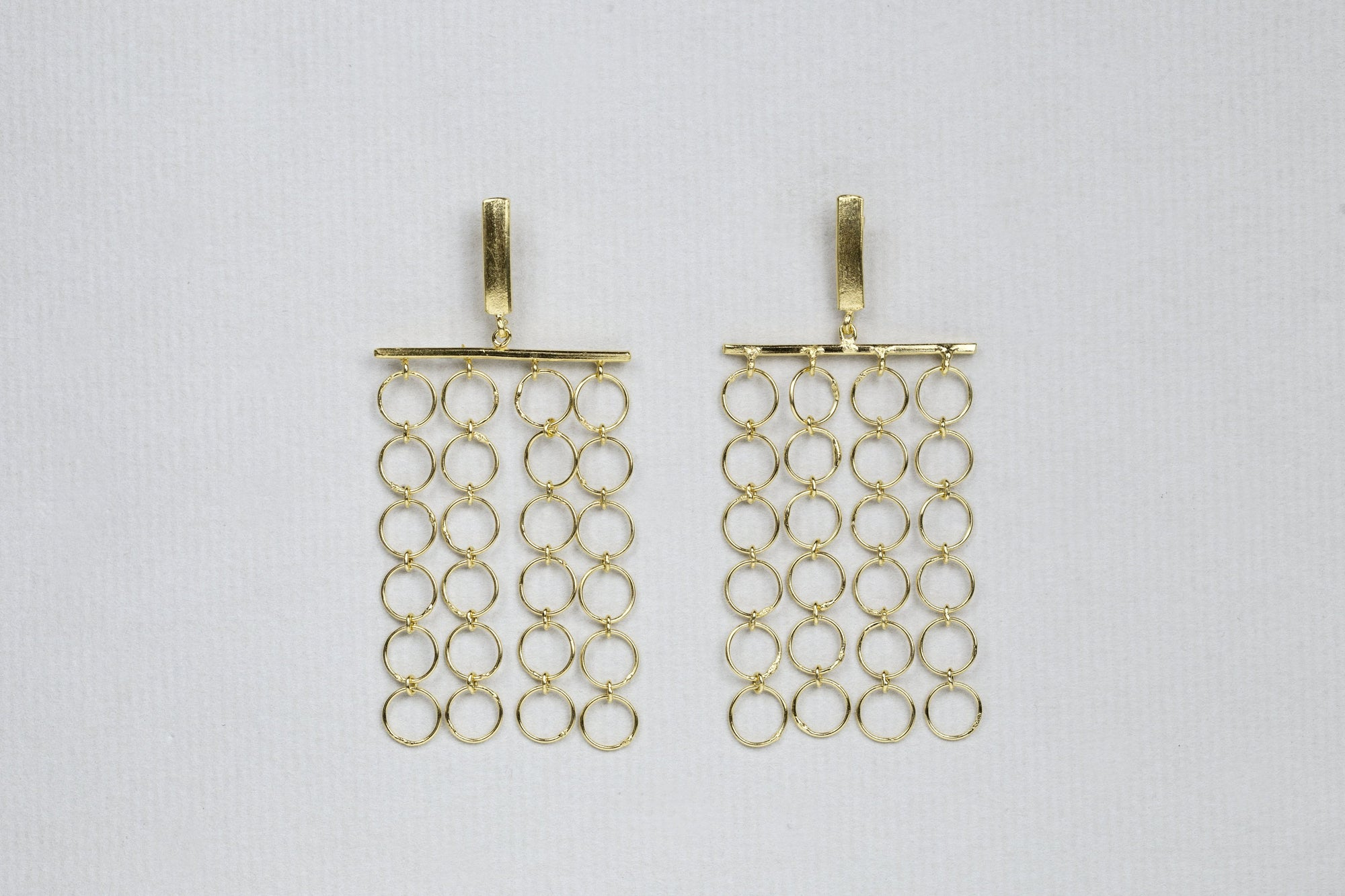 Gold Circle Chain Earrings