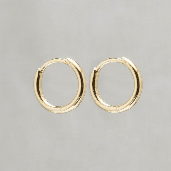 Gold and Silver Plain Round Hoop Earrings